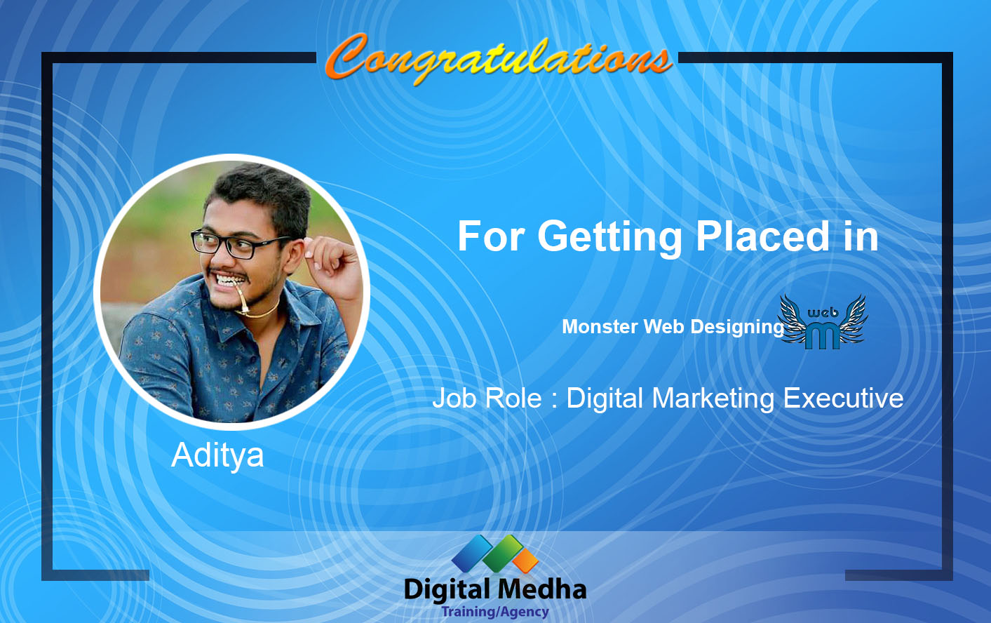 Recent Placements-Digital Medha