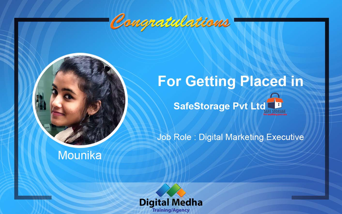 Recent Placements- Digital Medha